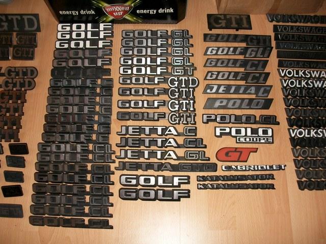 golf  andere embleme schriftzuege biete teilemarkt doppel wobber