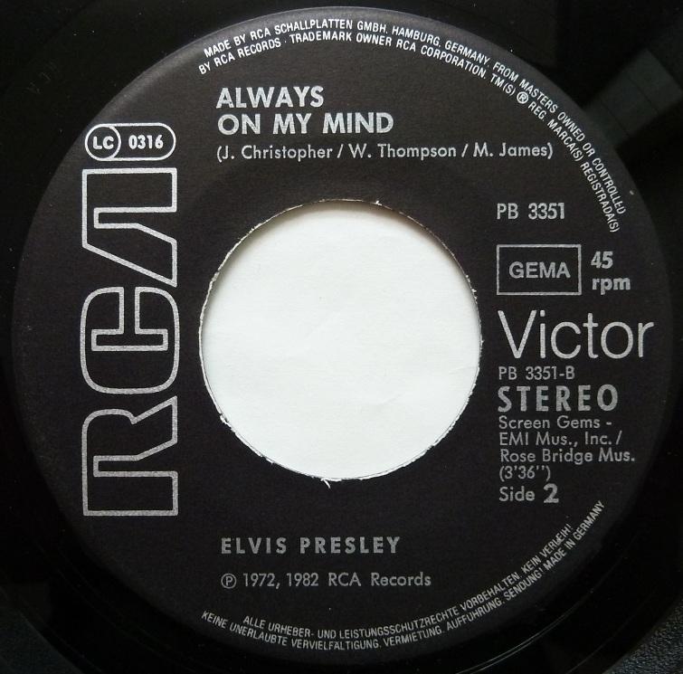 The Elvis Medley / Always On My Mind Medleyside2cvuc0