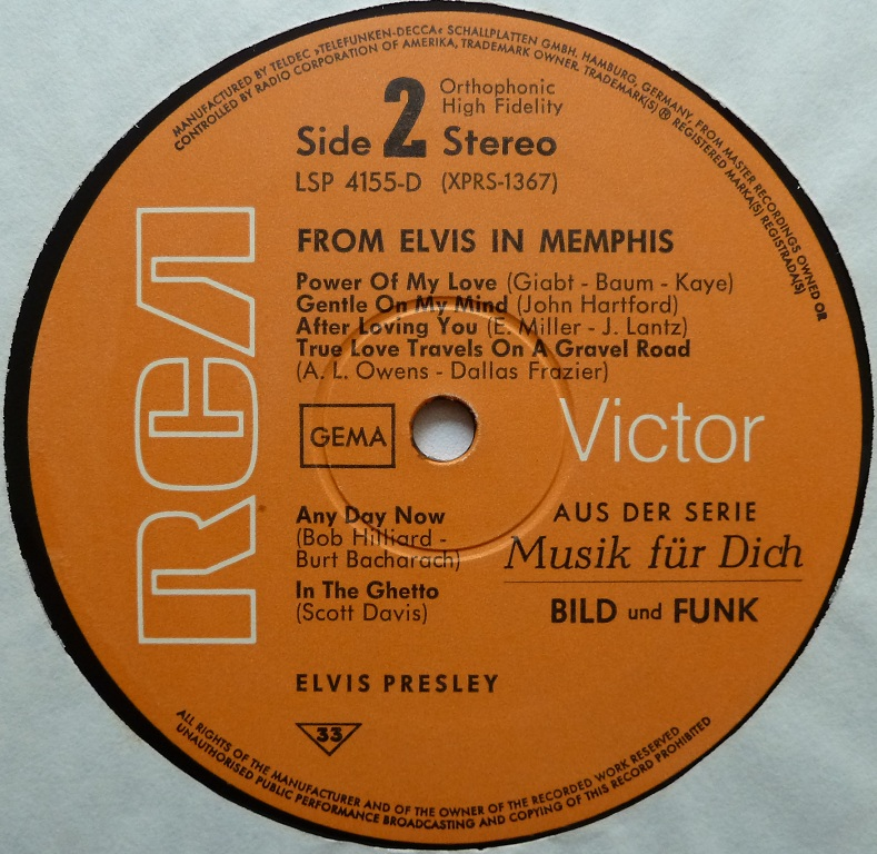 FROM ELVIS IN MEMPHIS Memphis69side23g7nq
