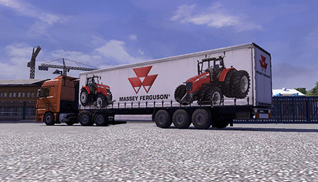 Massey Ferguson trailer &#8211; Euro Truck Simulator 2 Mod