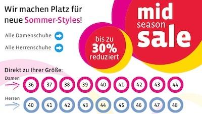 Mirapodo mid season Sale 30% Rabatt
