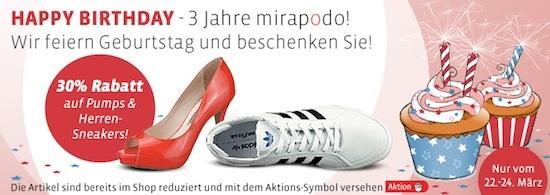 Mirapodo - 30% Rabatt auf Pumps und Sneaker