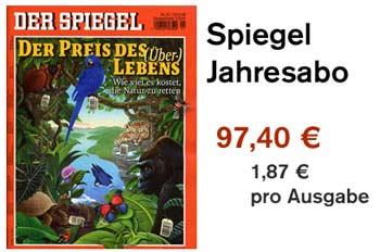 Update mehr zeitschriften spiegel jahresabo f r 97 40 for Spiegel jahresabo