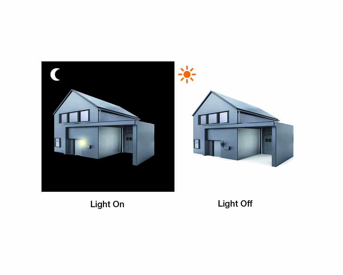 steinel energiesparleuchte wand leuchte ln1 mit d mmerungsschalter ebay. Black Bedroom Furniture Sets. Home Design Ideas