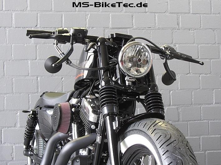 spiegel round custom harley davidson sportster 48 72