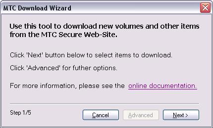 Vorschau auf die Download Wizard Oberfläche