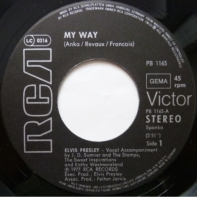 My Way / America (The Beautiful) Myway82side14j74v
