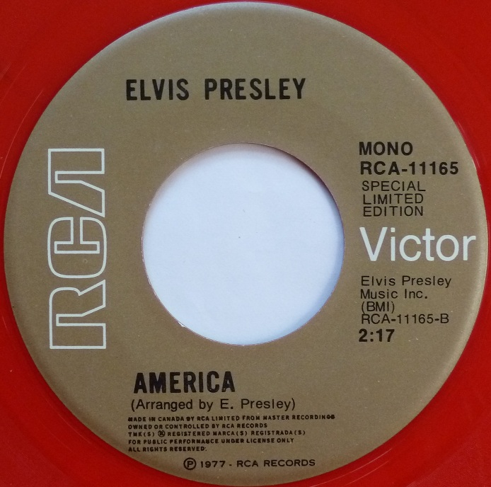 vinyl - My Way / America (Special Limited Edition - Red Vinyl) Mywaycanadaside2labelo9ixv