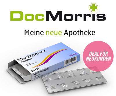 DailyDeal: 30€ Gutschein für Online Apotheke DocMorris für nur 15€ - oder 20€ für 10€!
