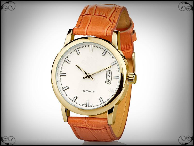 Γνήσιο St Leonhard αυτόματο ρολόι με δερμάτινο λουράκι!