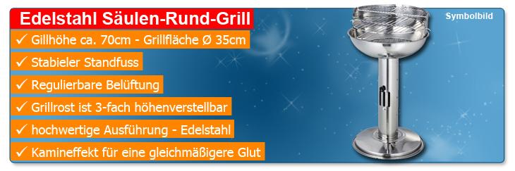 ebay WOW: BBQ Edelstahl Säulengrill für Kohle für nur 19,89€ inkl. Versand!