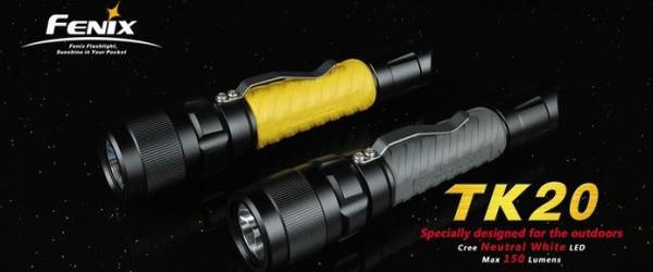 Cacher-Shop.de: Fenix TK20 Cree XR-E 7090 LED (150 Lumen) Taschenlampe für nur 33,98€ inkl. Versand!