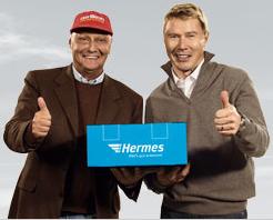 Niki Lauda und Mika Häkkinen bei Hermes