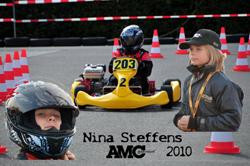 Nina Steffens im Kart...