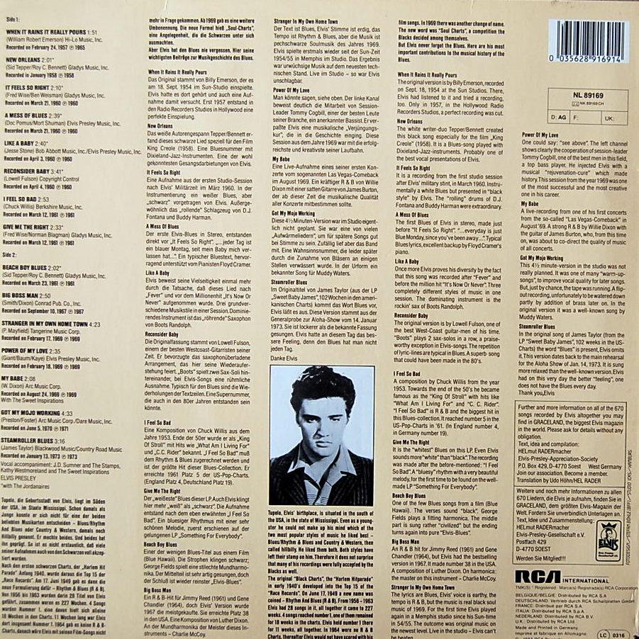ELVIS SINGS THE BLUES Nl-89169-2dhkwk