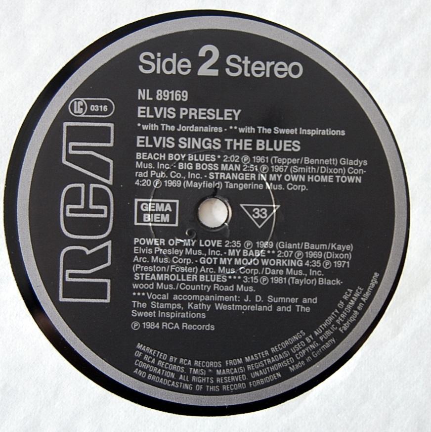 ELVIS SINGS THE BLUES Nl-89169-4nrj4y