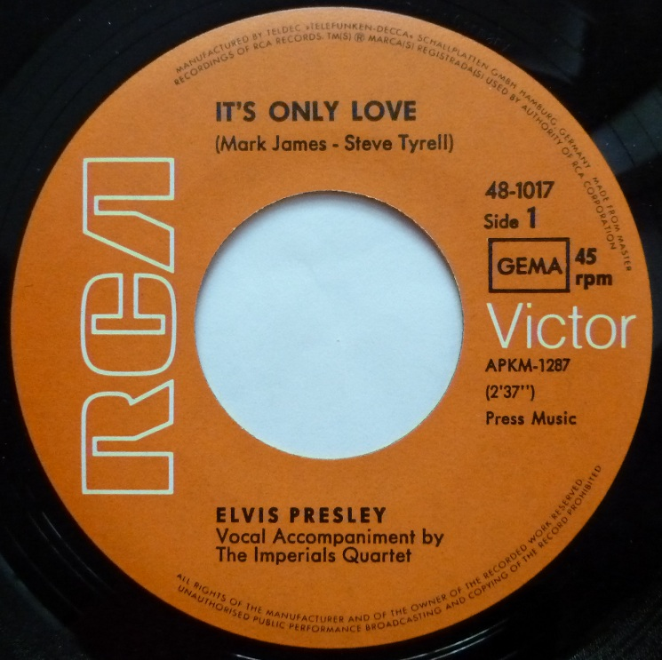 It´s Only Love / The Sound Of Your Cry Onlyloveside10u7pc