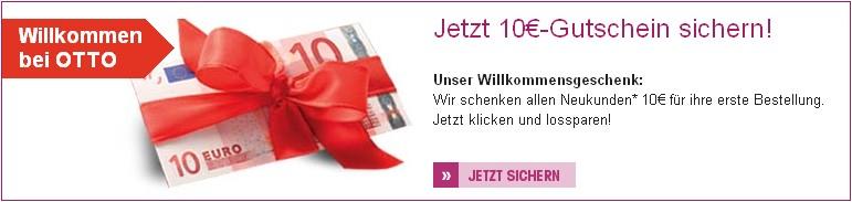 10 Euro Neukundengutschein OTTO