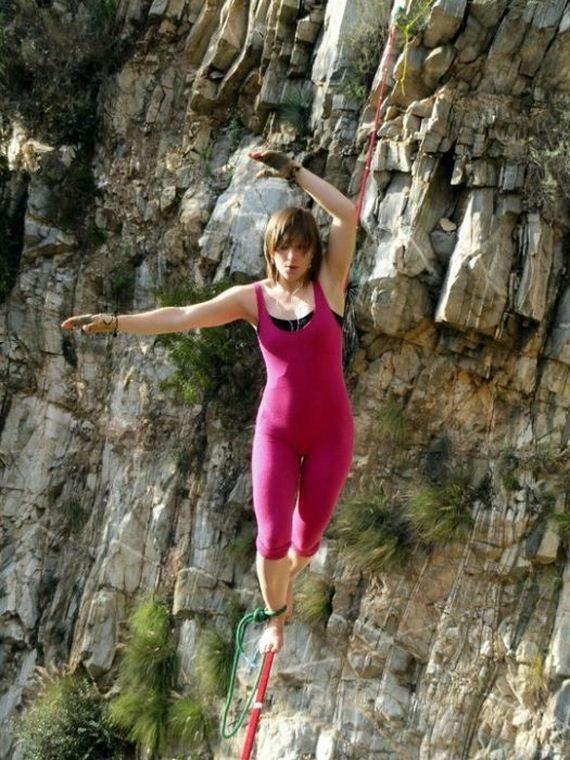 Faith Dickey - kobieta pozbawiona lęku wysokości 6