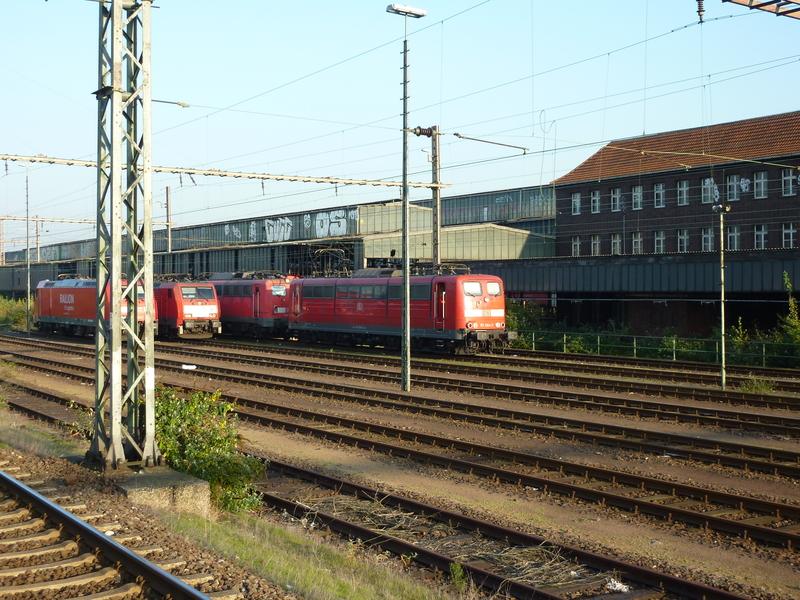 Verkehrsrote Railion Loks  P10501612rcck