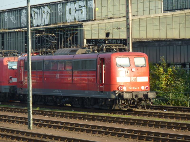 Verkehrsrote Railion Loks  P1050162bxc19