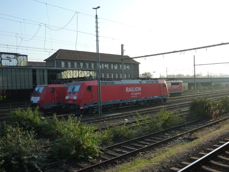 Verkehrsrote Railion Loks  P105016631ce8