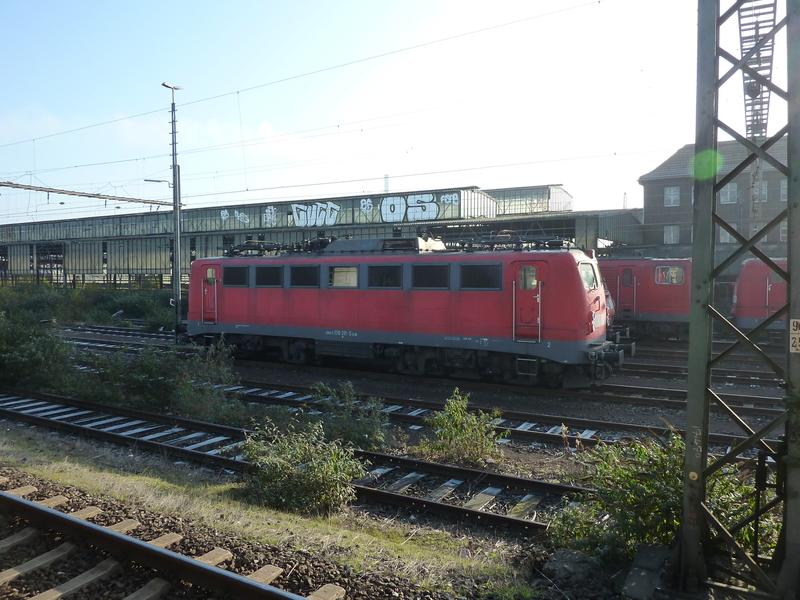 Verkehrsrote Railion Loks  P1050178m3fag