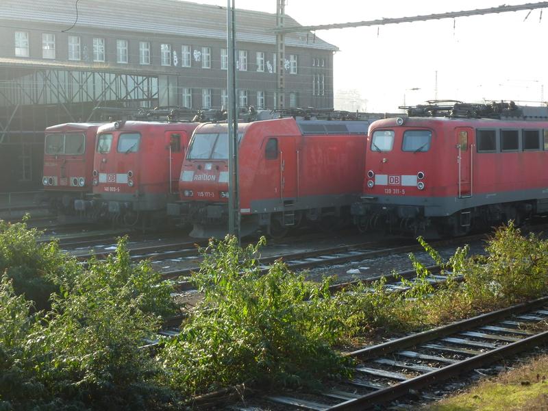 Verkehrsrote Railion Loks  P1050183ulcp9