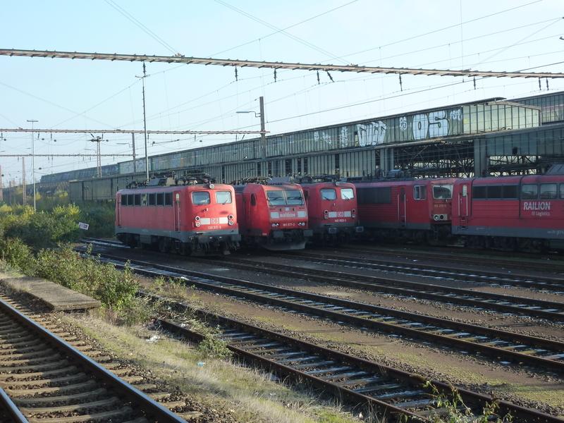 Verkehrsrote Railion Loks  P1050188std6l