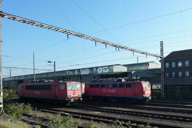 Verkehrsrote Railion Loks  P10501955wuxa