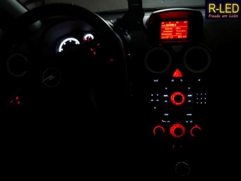 LED Innenraum-Umbau rot-weiß - Corsaforum.DE