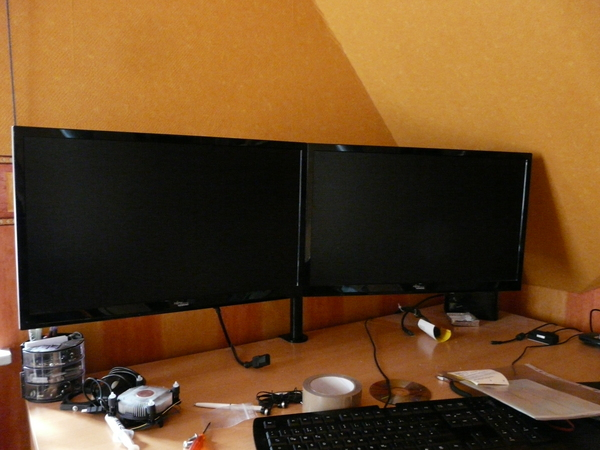 kaufberatung arctic z2 monitor arm halterung f r 2 tfts. Black Bedroom Furniture Sets. Home Design Ideas