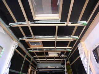 Unterbau für die Dachverkleidung