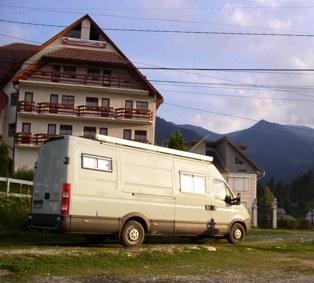 Übernachtungsplatz in Borsa