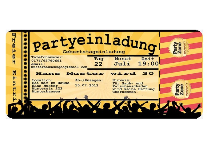 Coole Geburtstags Party Einladungskarte Für Teenager Einladung Zum ...