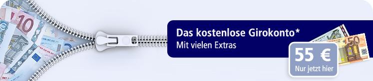 Postbank: Girokonto - Postbank Giro Plus mit 55€ Startguthaben und 3,33% Tagesgeld Zinsen für 6 Monate!