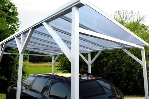 pcs dach freistehendes aluminium carport alu berdachung garage unterstellplatz. Black Bedroom Furniture Sets. Home Design Ideas