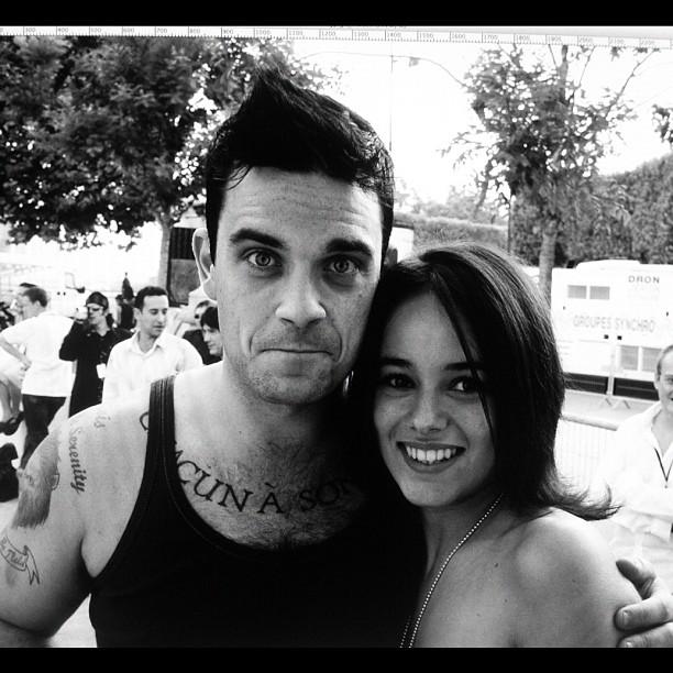 Alizée with Robbie Williams in 2003