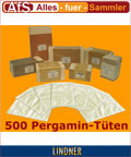 Lindner 500 Pergamin Tüten 105 x 150 mm + Klappe 709