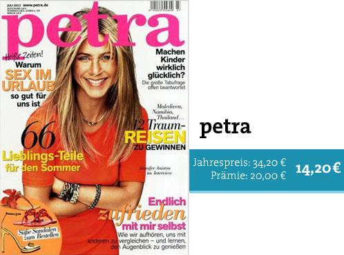 Lifestyle-Zeitschrift im Prämienabo