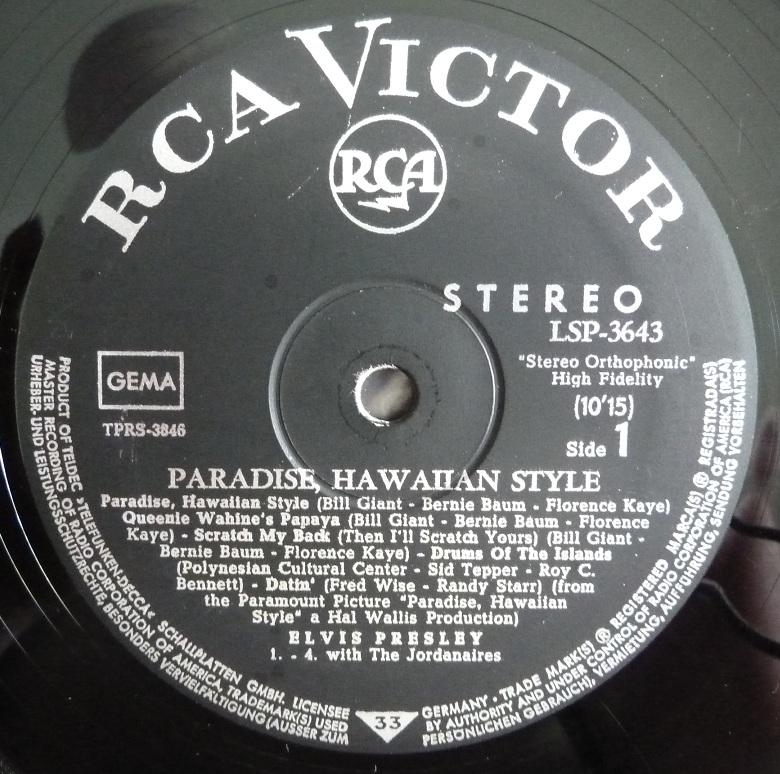 PARADISE, HAWAIIAN STYLE Phs66side1hvu26
