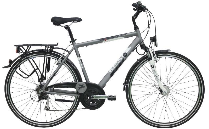 pegasus piazza herren trekking fahrrad shimano 21 g grau. Black Bedroom Furniture Sets. Home Design Ideas