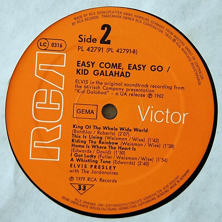 ORIGINAL SOUNDTRACKS: EASY COME EASY GO / KID GALAHAD Pl-427913x7d4m