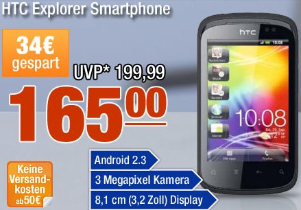 Android Smartphone HTC Explorer