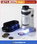 Leuchtturm Zoom-Mikroskop 20- bis 40fach mit LED