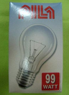 Polnische 99 Watt Glühbirne
