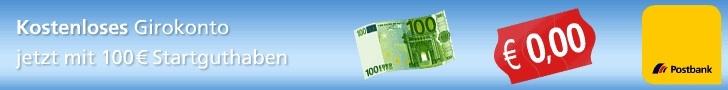 Postbank 100 Euro geschenkt