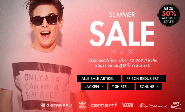 frontlineshop: Summer Sale mit bis zu 50% Rabatt und 10€ Neukundengutschein - Markenklamotten
