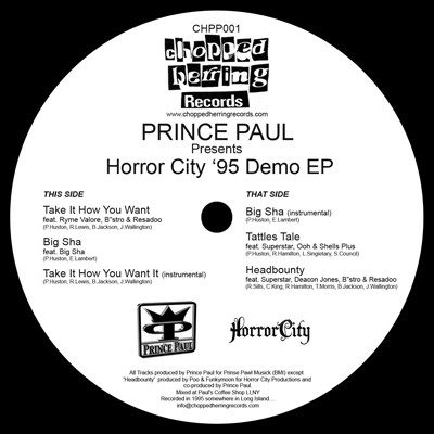Cover: Prince Paul - Presents Horror City 95 Demo-Ltd.Ed._Vinyl-2010-CMS