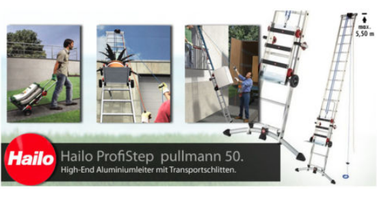 hailo alu multi leiter profistep pullmann 50 lift ebay. Black Bedroom Furniture Sets. Home Design Ideas
